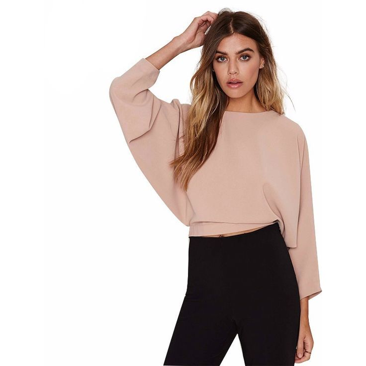 Batwing Bow Crop Top