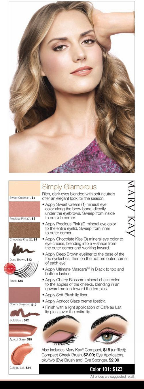 Simply Glamour looks from Mary Kay makeup artists.  Let's together and see how it looks on you! Contact Sandra at 404-731-8431 or www.marykay.com/schisholm44