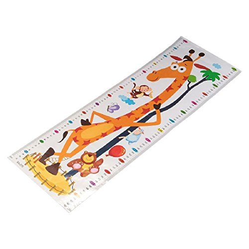 Wandtattoo Kinder-Messlatte, H�hen-Diagramm, Wachstum, abnehmbar, PVC, Cartoon, Kunst-Wandbild