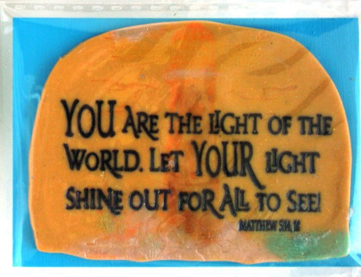 Scripture Magnet.  You are the Light of the World. Let your Light shine out for all to see!  Matthew 5:14, 16.  HANDMADE Verse Magnet by WordofGod on Etsy