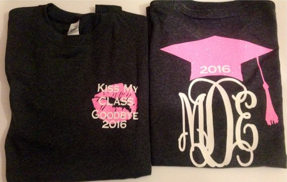 Class of 2016 senior shirt graduation by Hillspersonaltouch