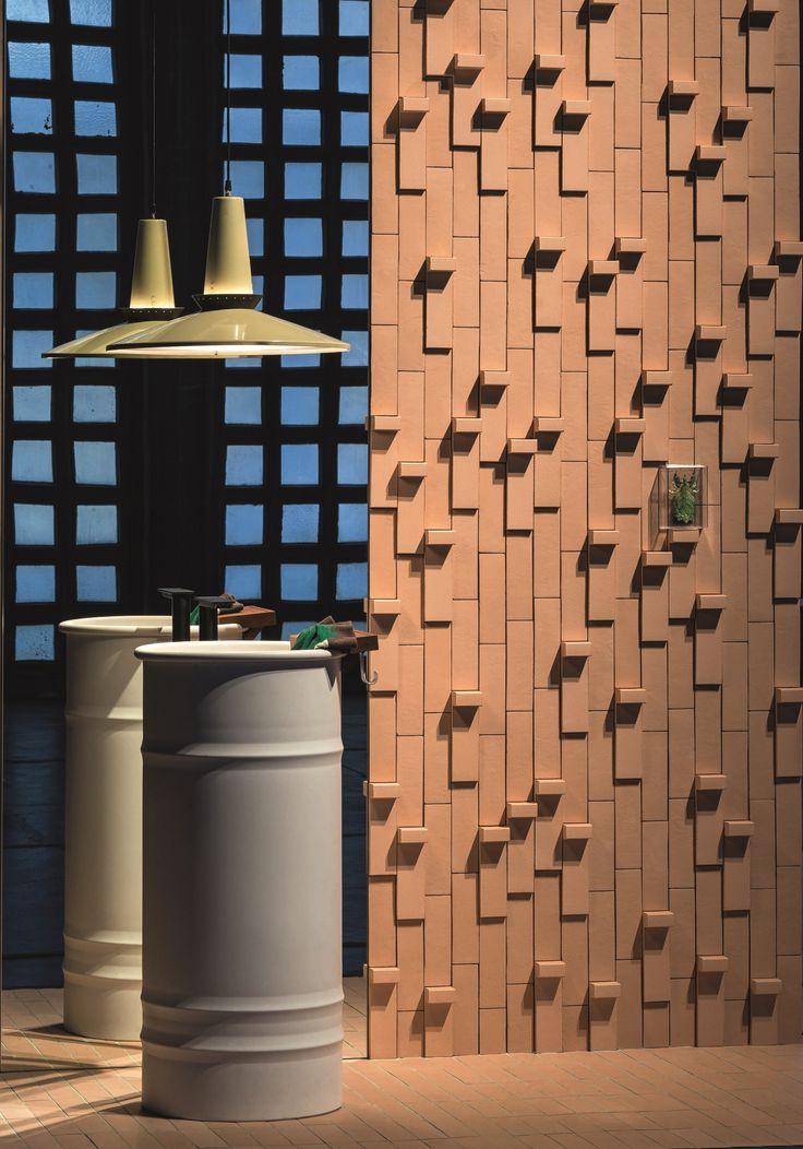 3D обшивка стен TIERRAS ARTISANAL LITTLE L by MUTINA дизайн Patricia Urquiola