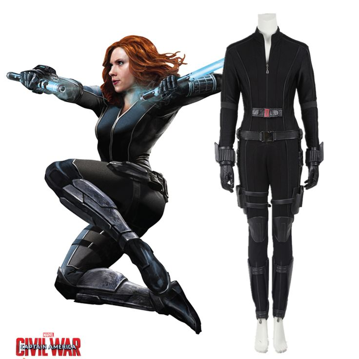 Marvel's Captain America Civil War Black Widow Costume Cosplay Adult Women Black Widow Natasha Romanoff Superhero Outfit