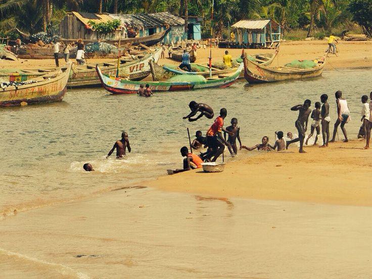 Village boys playing, Ghana