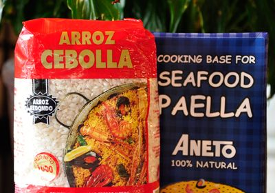 We Love that you can make Perfect Paella at home with the rice & stock... available now from The Nook - Deli