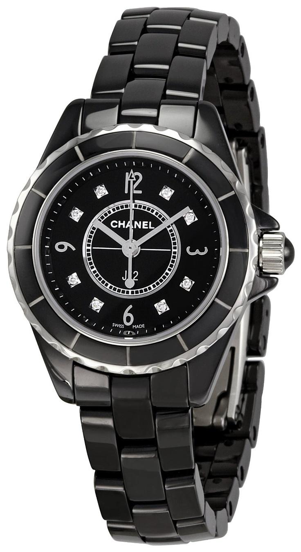 Replica chanel watches - Chanel Women S H2569 J12 Black Ceramic Bracelet Watch Watches