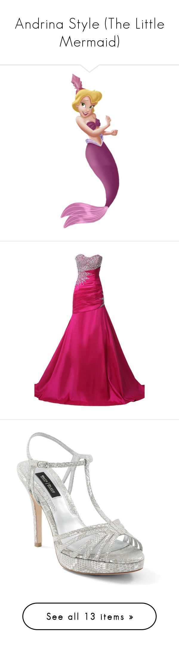 """""""Andrina Style (The Little Mermaid)"""" by briony-jae ❤ liked on Polyvore featuring disney, characters, andrina, little mermaid, ariel, dresses, gowns, long dress, robe longue and cocktail prom dress"""