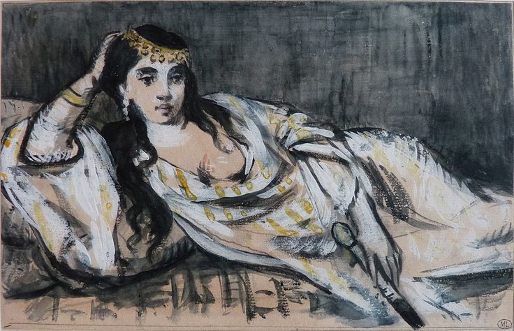MANET Edouard - Odalisque (drawing, dessin, disegno-Louvre RF6929) - 0