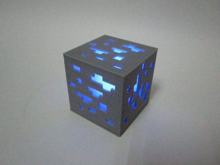 Light Up Minecraft Diamond Block 3D Printed By ...