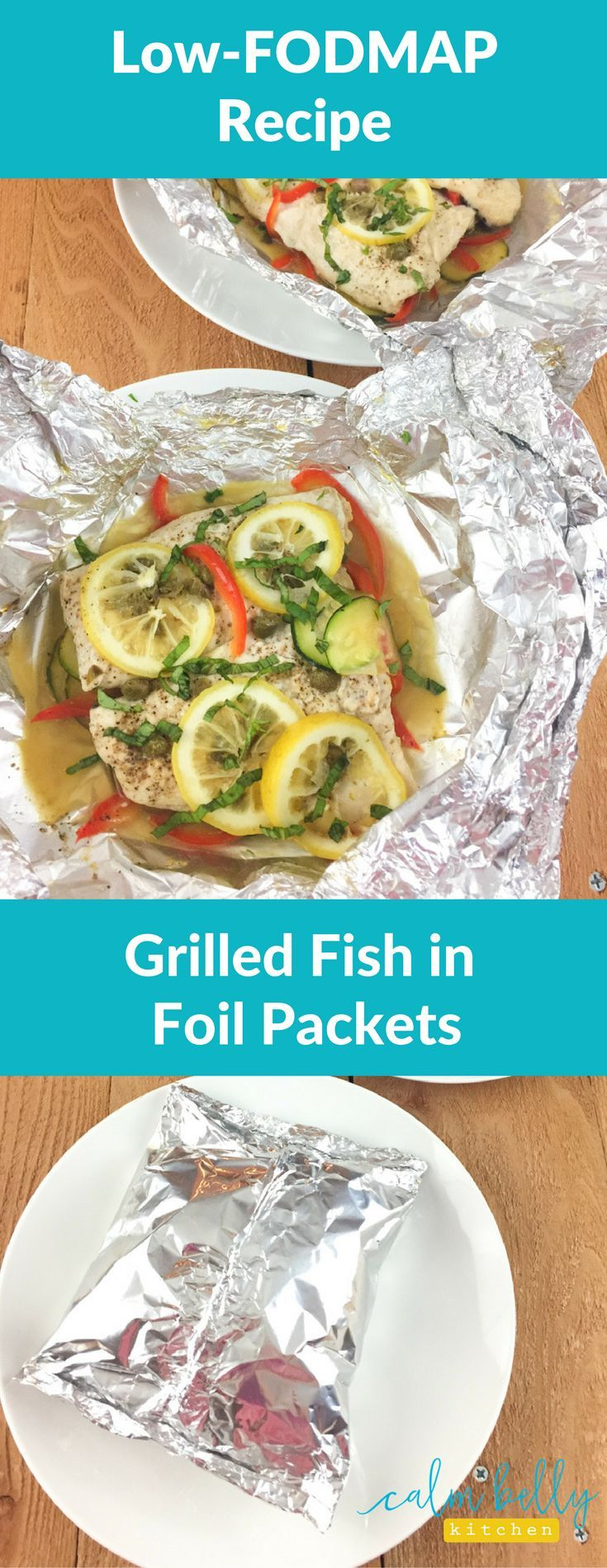 This low FODMAP recipe is healthy, fast and a great choice when you're eating for IBS. The simple foil packet method is the easiest way to cook delicate fish and veggies on the grill.