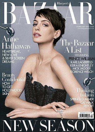 Anne Hathaway Covers Harper's Bazaar UK February 2013