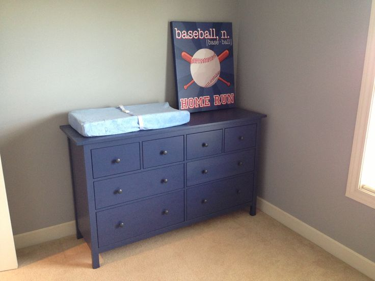 Ikea Hemnes 7 Drawer Dresser For Nursery Just Bought This One Blue Dresserboy