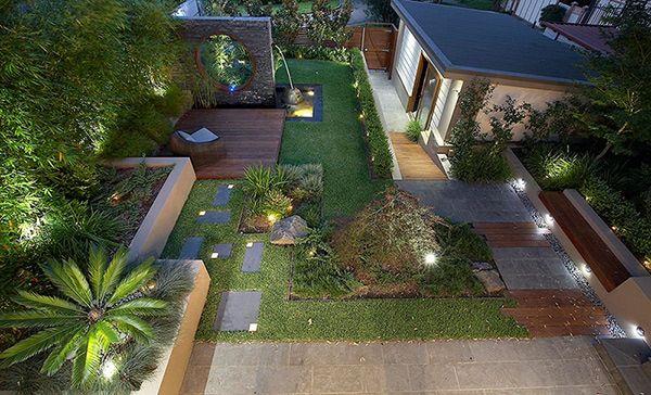 desain taman rumah modern empat