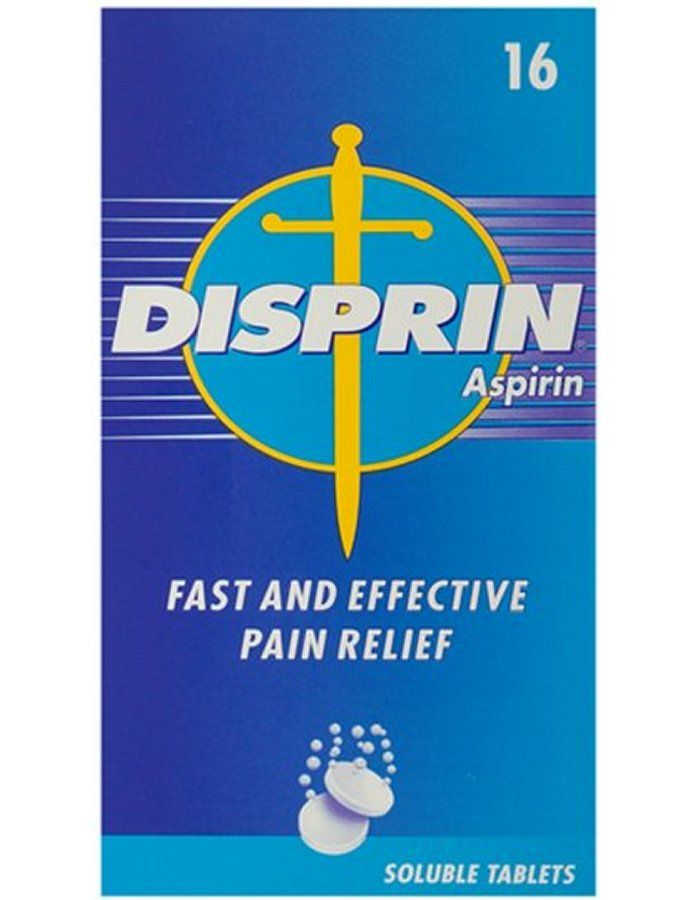 Disprin Soluble X 16 Tablets Disprin Aspirin Soluble Tablets are used for the relief of pain, including migraine headaches, toothache, neuralgia, sciatica, period pains, and sore throats. They can also provide symptomatic relief  http://www.MightGet.com/march-2017-1/disprin-soluble-x-16-tablets.asp