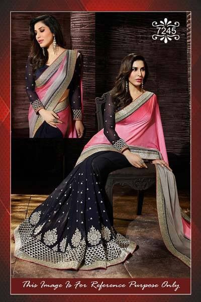 Sophie Black & Pink Bollywood Sarees Online