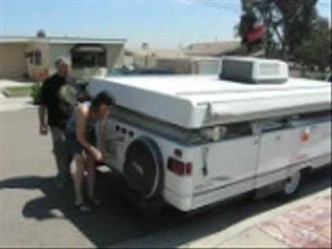 Setting Up a 2003 Coleman Tent Trailer (Pop Up Trailer)