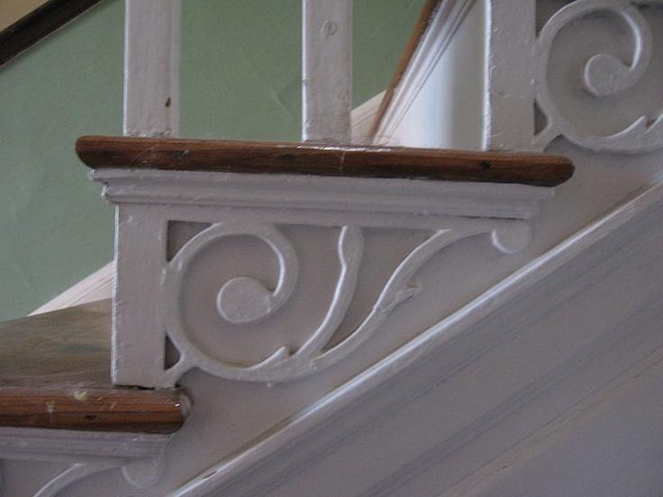 William Ruth Mansion House Step End Bracket Based On Owen Biddleu0027s 1805  Pattern Book, Built