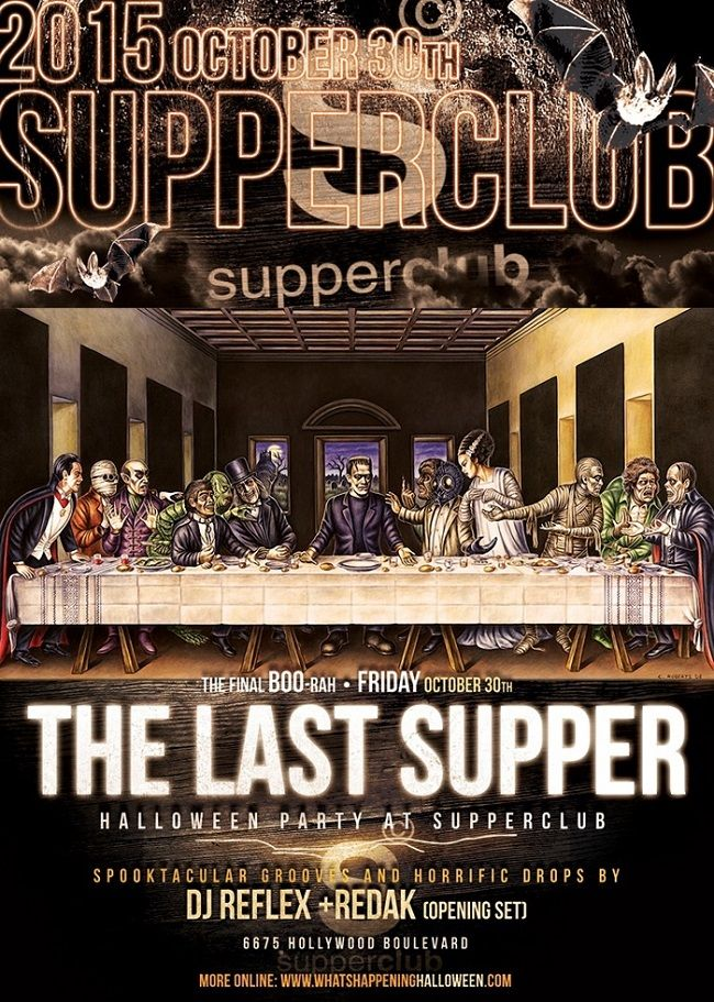 L.A.'s mischievous hell-raisers are all taking to Supperclub LA for one last night of devilish revelry and Halloween debauchery. Six-year veteran of the Los Angeles nightlife party scene, Supperclub LA, is shuttering their doors after a final party during Halloween Weekend on October 30th 2015 (Friday) with DJ Reflex. The city's in-the-know party monsters will don on their most seductive Halloween costumes to revel in the massive nightclub amid a sexy, high-octane party atmosphere.