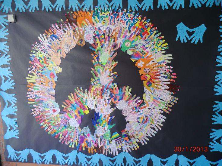 Mural dia de la Pau 2013