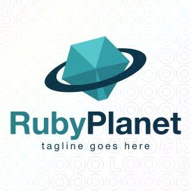 Exclusive Customizable Logo For Sale: Ruby Planet | StockLogos.com