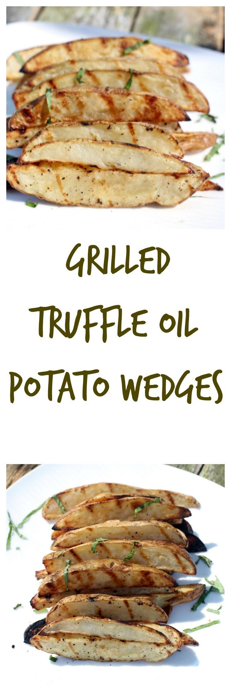 Grilled Truffle Oil Potato Wedges are so easy to  prepare! In less than 15 minutes and only 5 ingredients Grilled Truffle Oil Potato Wedges are ready! Great side dish! #CookoutWeek