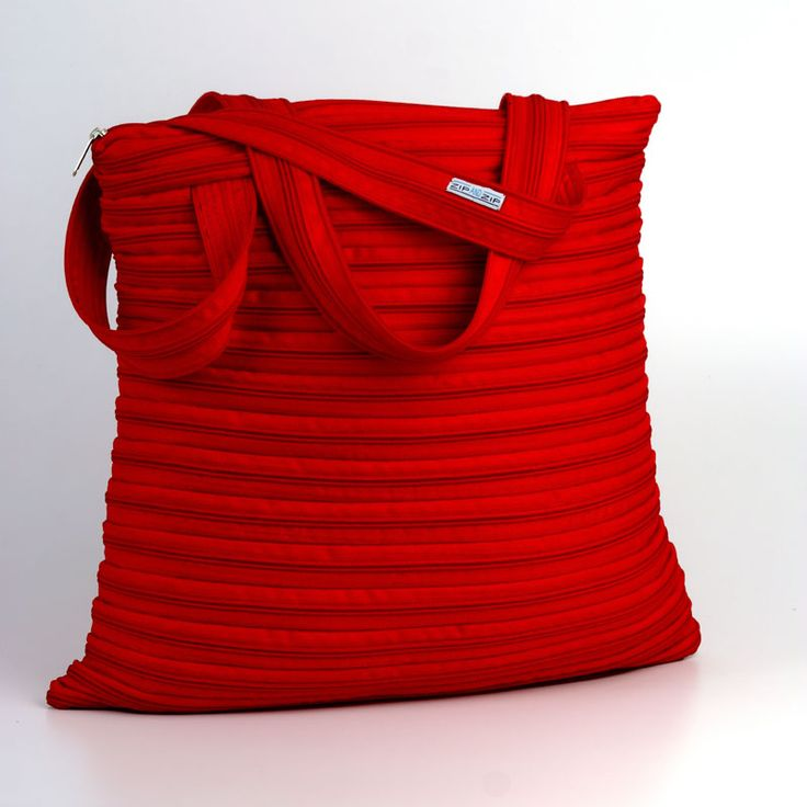 Amira-beach bag color rosso Ferrari