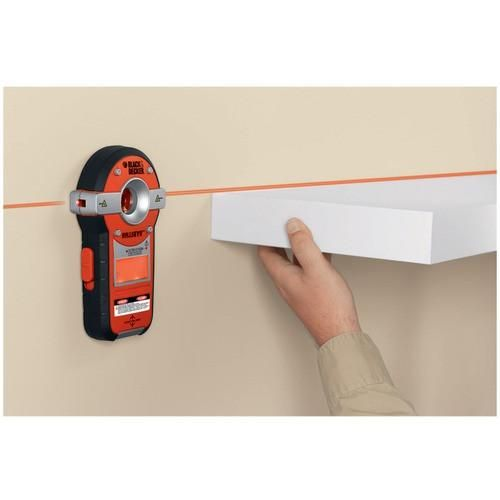 2 Tools In 1 With Auto Leveling Laser Level & Stud Sensor Levels Automatically Without Adjustments Projects Horizontal Level Laser Line Stud Sensor Detects