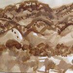 Elisabeth Cummings - 2008- Flinders 4 -Ink on paper - Image 32x46cm $2500