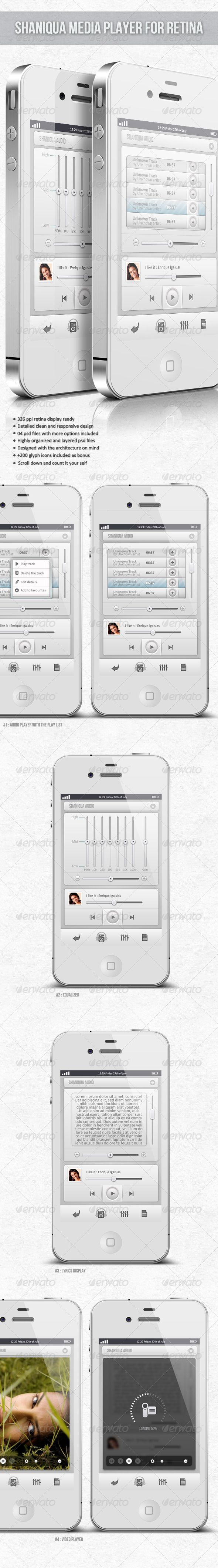 Retina Media Player - Shaniqua - GraphicRiver Item for Sale