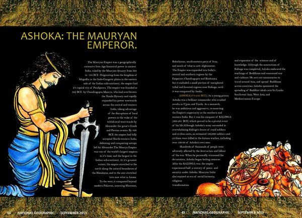 The King Ashoka Visited Bodh Gaya and get indoctrinated into Buddhism