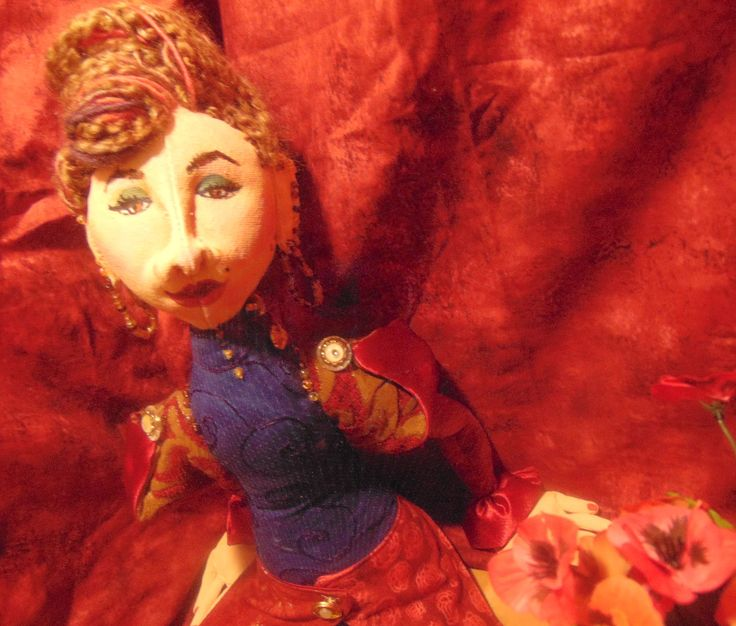 Cloth Doll Sitting...Olga