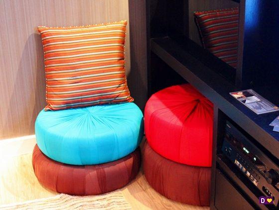 PUFES DE PNEU - dcoracao.com - blog de decoração