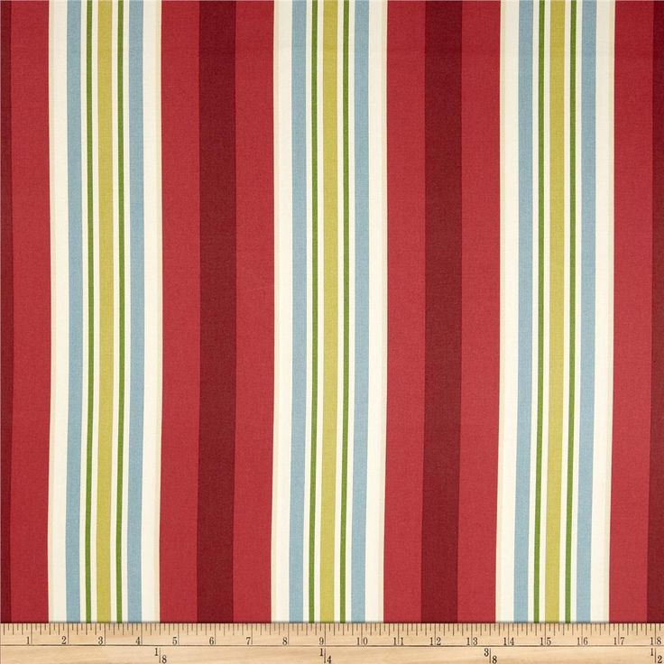Waverly High Tea Stripe Twill Currant from @fabricdotcom  Screen printed on cotton twill; this versatile lightweight fabric is perfect for window accents (draperies, valances, curtains and swags), accent pillows, duvet covers and upholstery. Create handbags, tote bags, aprons and more. Colors include ivory, cream, blue, crimson and cherry red.