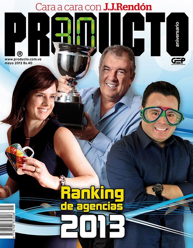 Portada del Ranking PRODUCTO 2013, el informe de la publicidad más confiable de la industria y que tiene una trayectoria de 16 años
