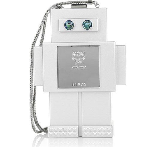 MCM Borse da spalla, Roboter Clutch Small Silver argento fashionette grigio