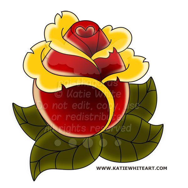 ROSE TATTOO - www.katiewhiteart.com