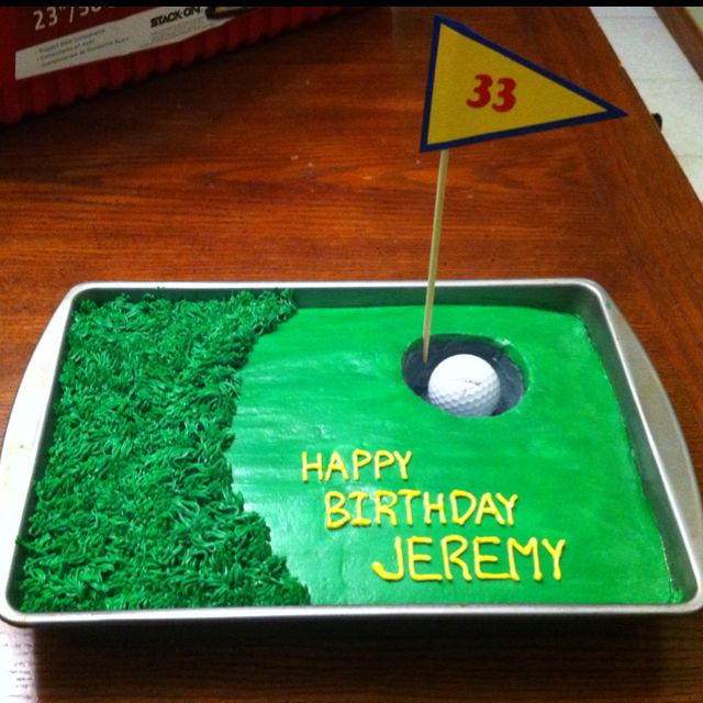 Golf cake My husband's birthday cake. My version of a cake I saw on Pinterest.