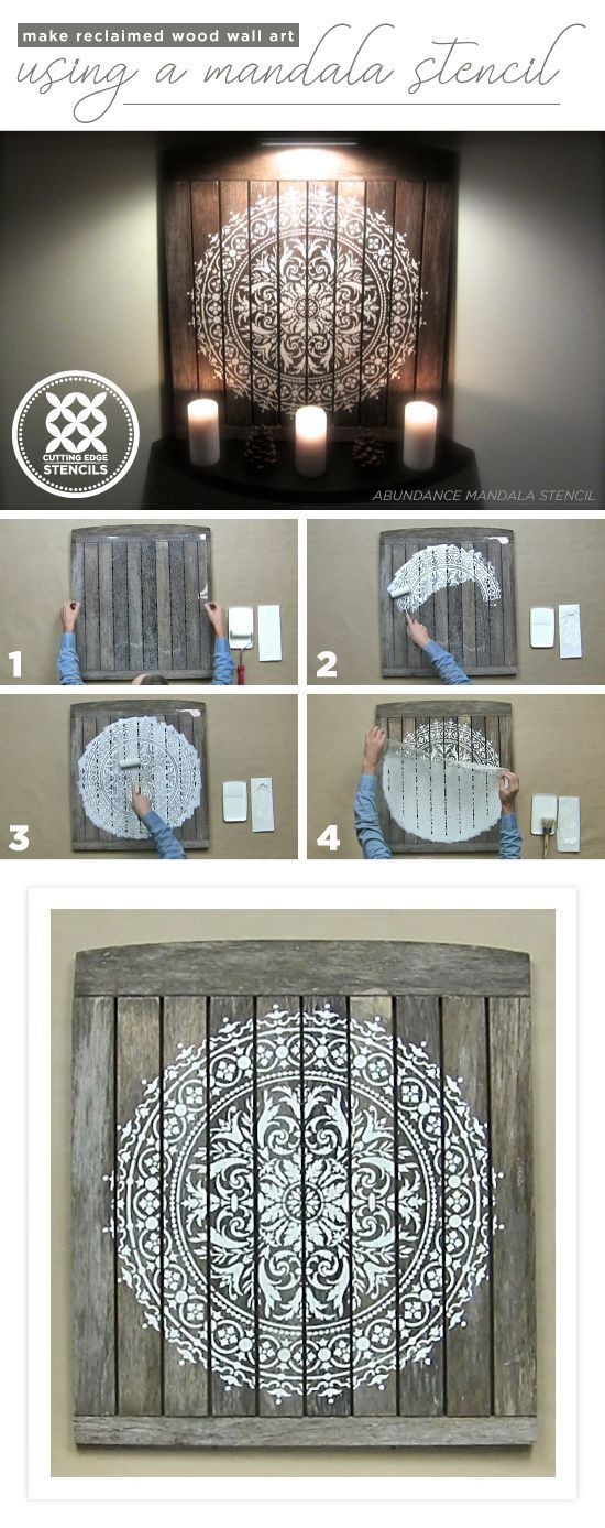 Cutting Edge Stencils teilt ein Tutorial, wie man DIY r …