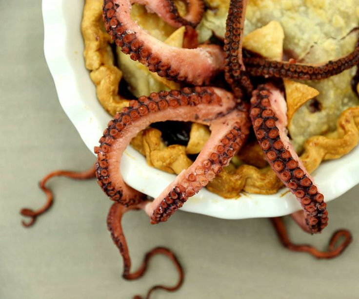 This pie is an eldritch horror, and the perfect dish for your next Campus Crusade for Cthulhu potluck*.The CthulhuBerry Pie, a type of Octopus Pie or OctoPie, is a sweet confection that is simultaneously fruity and totally tentacular. It's a remarkably easy pie, provided you can lay hands on both an octopus and a sous vide cooker, as well as some Cthulhuberries. Join the Cult of Cthulhu and follow these easy steps to awaken Dread Cthulhu from his slumber, and ensure that he is merciful and…