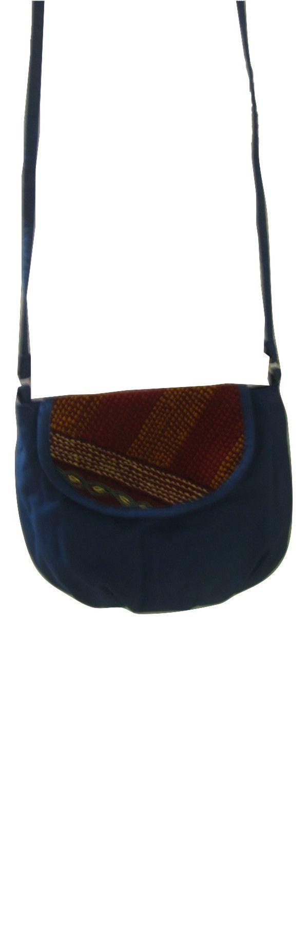 Sabala Handicrafts Blue Flat Top Bag $19.99