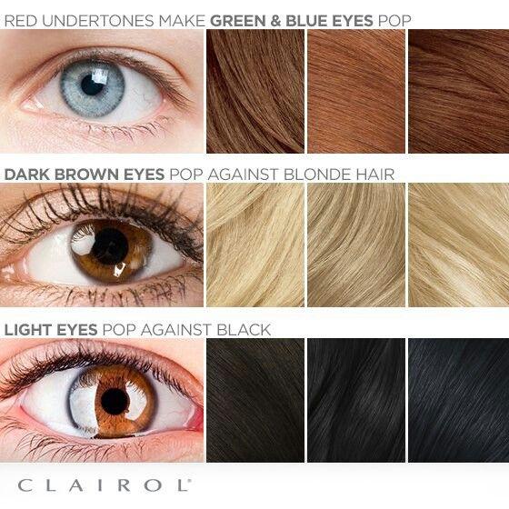 Dark brown eyes pop with blonde hair ;)