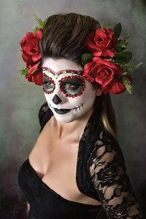 Maquillaje de Catrinas - Disfraz de Calavera Mexicana