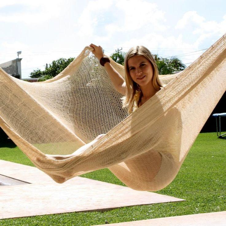 Sunnydaze Jumbo Mayan Hammock - Natural
