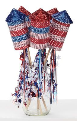 4th of July Paper Rockets, large