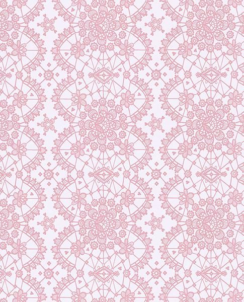 Myte Pink Lace Wallpaper - Wallpaper