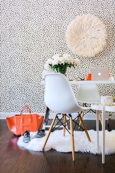 Waiting On Martha Is Using The Black And White Tanzania Wallpaper From Thibaut Design