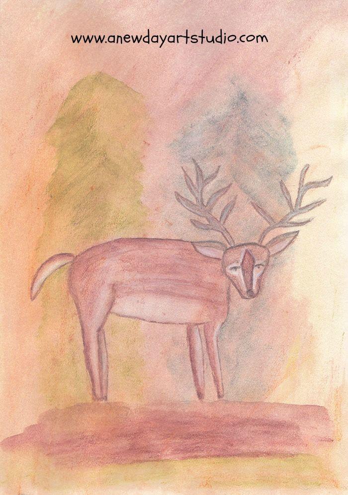 Deer totem in my sketchbook.