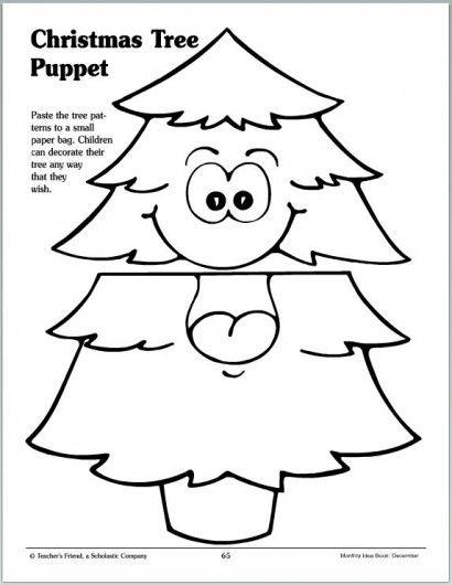 Christmas Tree Puppet   Parents   Scholastic.com