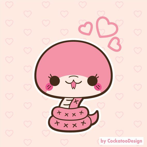 Smiles And Tears A Good Noodle Cute Art Cute Animal Drawings Kawaii Snake Drawing