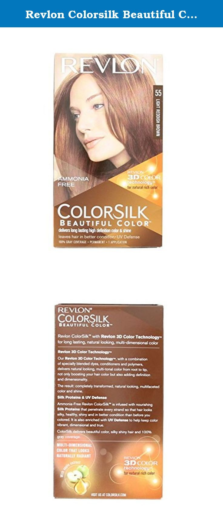 Colorsilk beautiful color 55 light reddish brown by revlon hair color - Revlon Colorsilk Beautiful Color Light Reddish Brown 55 Color Silk Beautiful Color Light